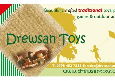 Drewsan Toys banner design